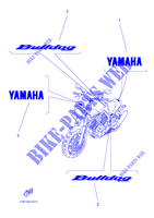 STICKER BT1100 1100 yamaha-motorcycle 2003 BULLDOG FIG_37