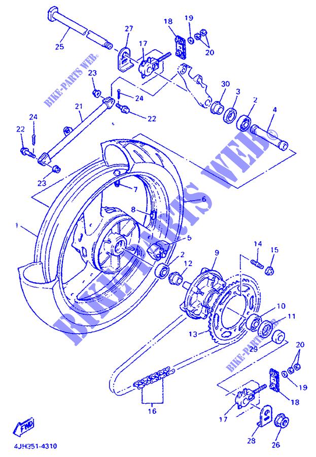 REAR WHEEL YZF600R THUNDERCAT 1998 600 MOTO Yamaha