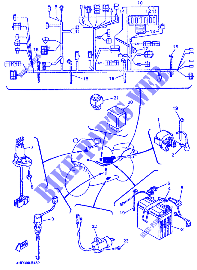 yamaha moto 750 1995 yzf yzf750r yzf750r electrical 2