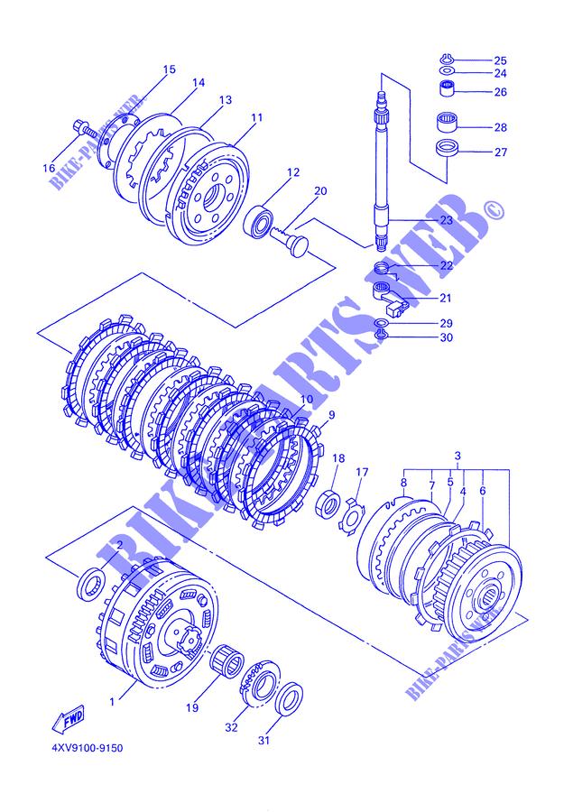 Yamaha 4XV163820000 Push Lever Axle