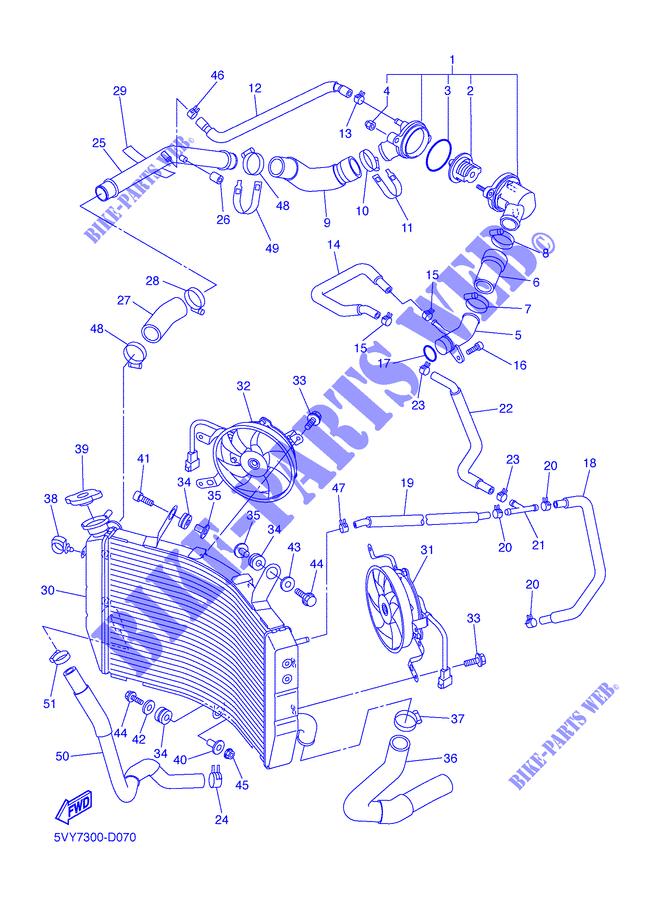 RADIATOR / HOSES for Yamaha YZF-R1 2005 # YAMAHA - Genuine