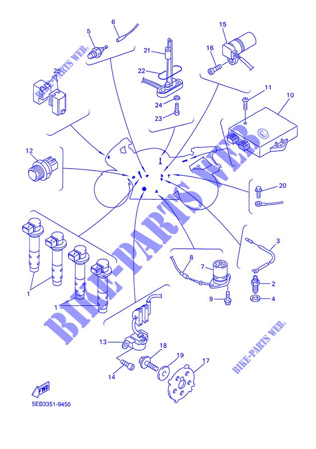 5EB5 Indicator Relay for 2000 Yamaha YZF R6