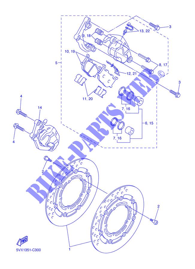 0600 CC Yamaha FZ6-N    2006 Brake Caliper Rear  Boot Seal