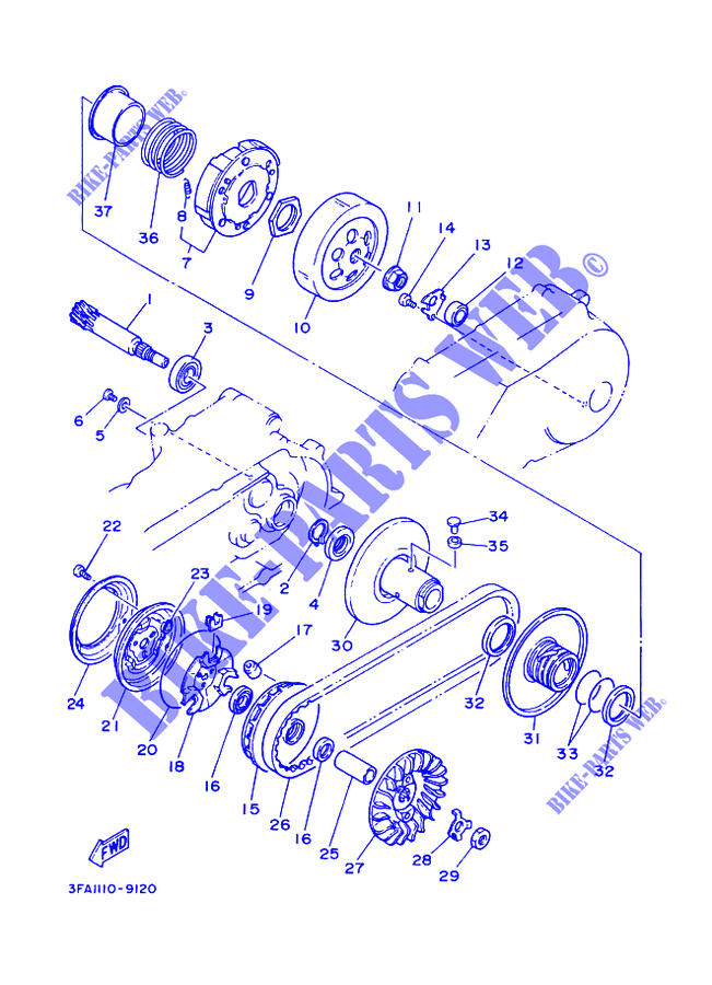 Yamaha Breeze Parts Diagram