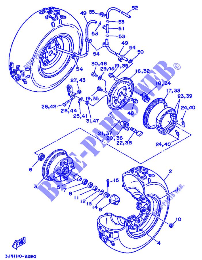 Front Wheel For Yamaha Yfm 350 1993: 1987 Yamaha Yfm350er Moto 4 Wiring Diagram At Daniellemon.com