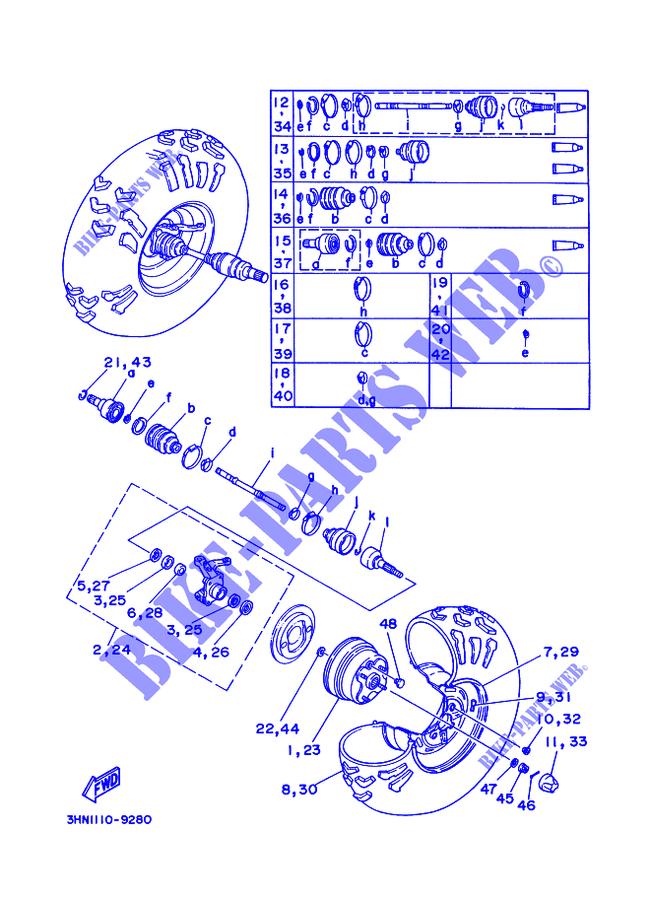 Yamaha 3HN251110200 Front Wheel Hub