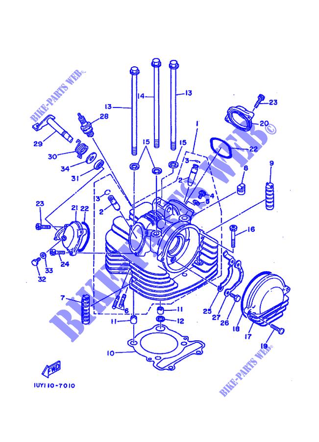 yamaha yfm350xu warrior atv replacement parts manual 1988