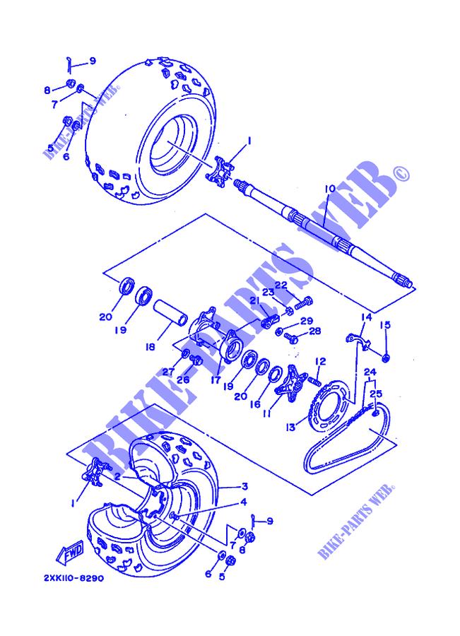 diagram of 1988 warrior yfm350xu yamaha atv electrical 1 diagram andrear wheel yfm350x yfm350xu warrior warrior 1988 350 quad yamahayamaha quad 350 1988 warrior yfm350x yfm350xu