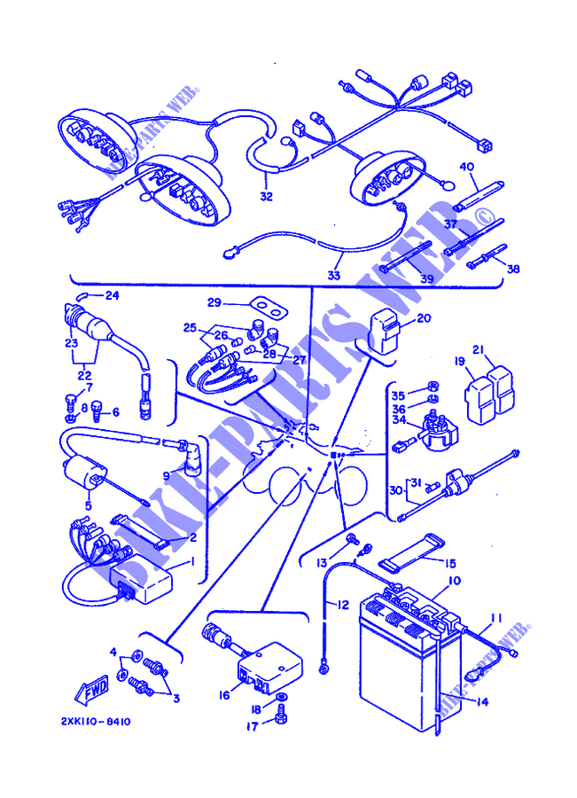 diagram of 1988 warrior yfm350xu yamaha atv electrical 1 diagram and rh sellfie co
