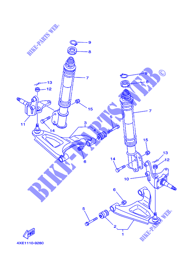 Yamaha Bear Tracker 250 Parts Diagram