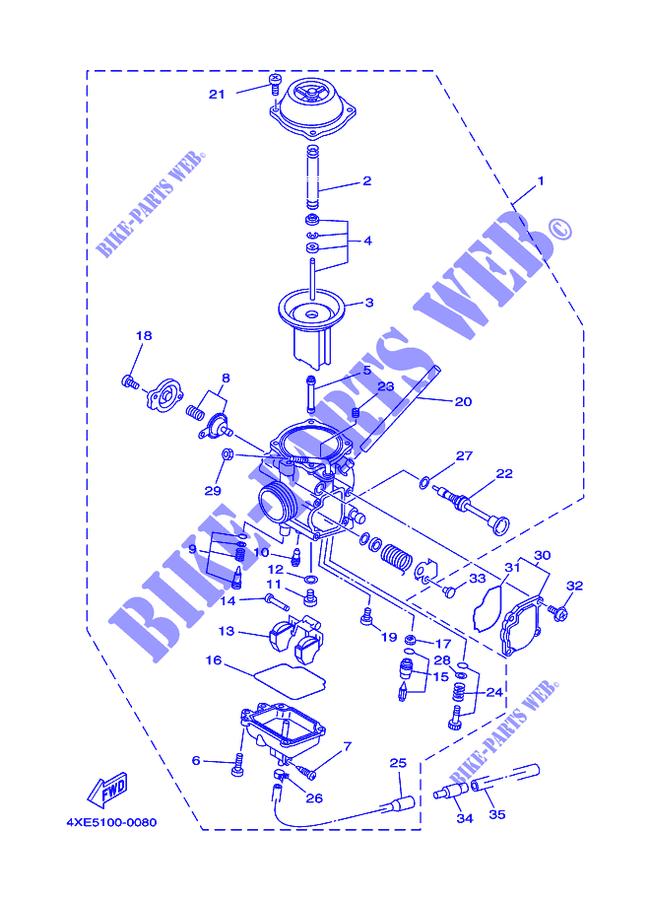 Yamaha Bear Tracker Carburetor Diagram