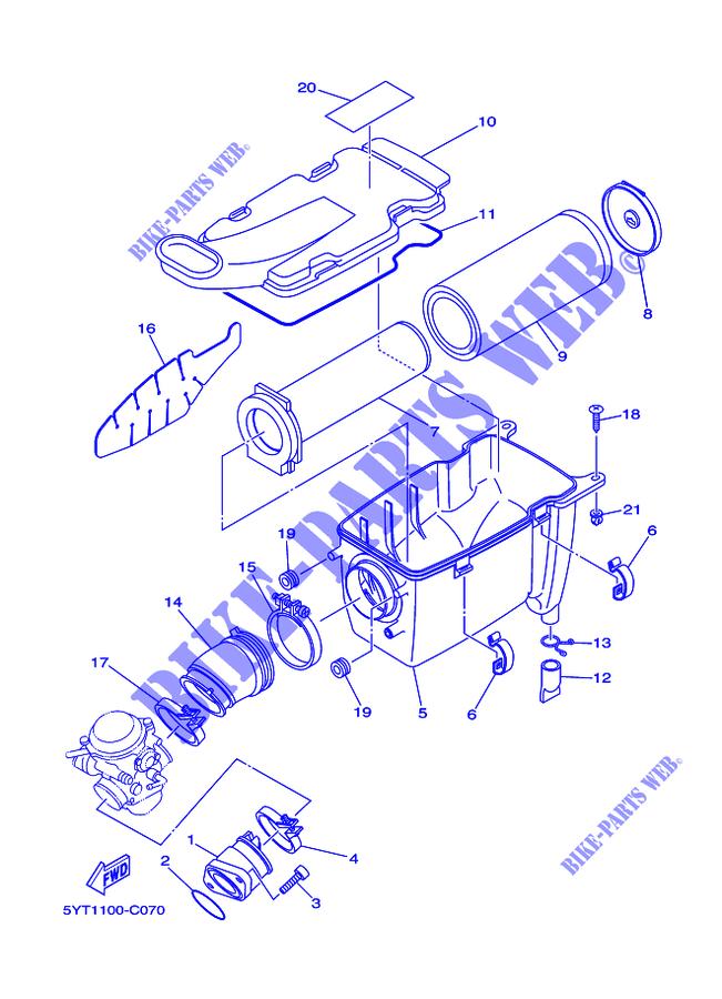 Intake Yfm350 Yfm35rx Raptor 350 2008 Quad Yamaha. Yamaha Quad 350 2008 Raptor Yfm350 Yfm35rx Intake. Yamaha. Yamaha Raptor 350 Transmission Diagram At Scoala.co