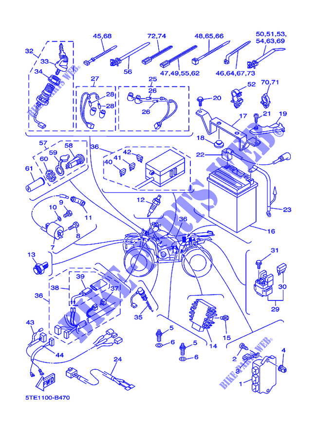 Yamaha Kodiak 400 Parts Diagram