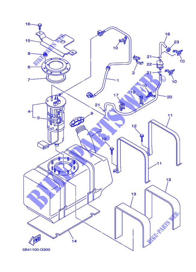 FUEL TANK YXR700F YXR7FB RHINO 2012 700 SIDE BY SIDE Yamaha ...  Yamaha Rhino Wiring Diagram on