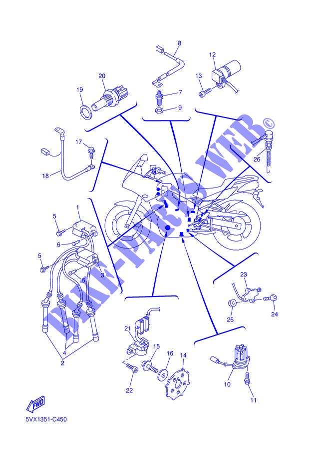 Awe Inspiring Electrical 1 Fz6 Shg Fazer S2 2007 600 Moto Yamaha Motorcycle Wiring Database Gramgelartorg