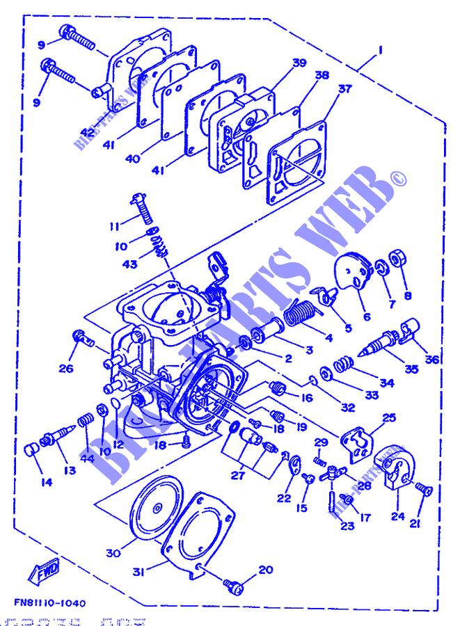 CARBURETOR for Yamaha JET 650 1992 # YAMAHA - Genuine Spare