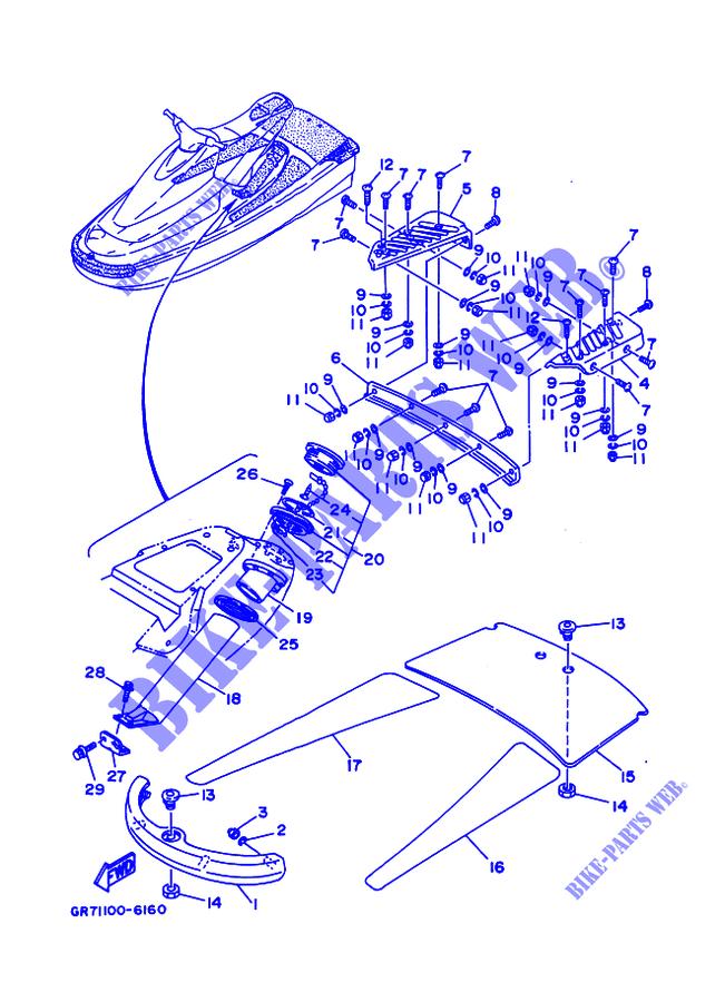 SHIELD for Yamaha JET 700 1998 # YAMAHA - Genuine Spare Parts Catalogue