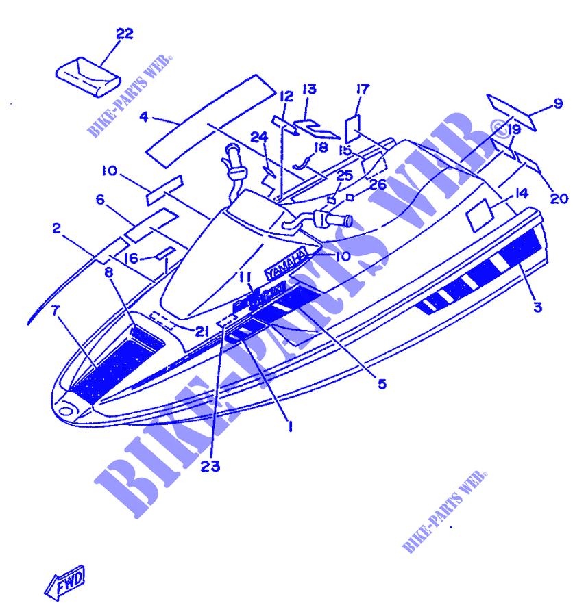STICKER / TOOLS for Yamaha WR500 1997 # YAMAHA - Genuine