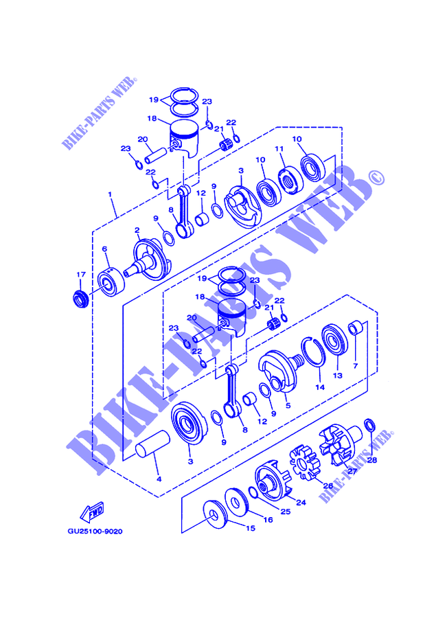 yamaha gp760 engine diagram