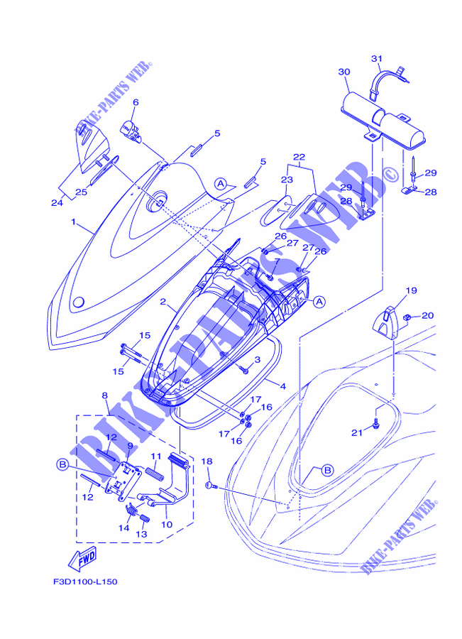 Yamaha Waverunner Engine Diagram - Diagrams Catalogue