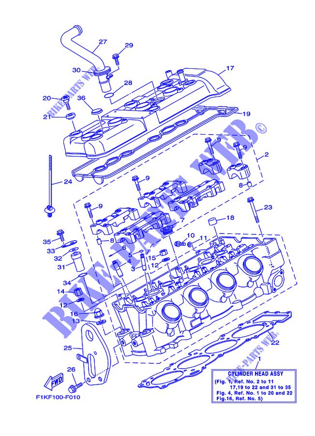 CYLINDER for Yamaha VX1100-G 2008 # YAMAHA - Genuine Spare