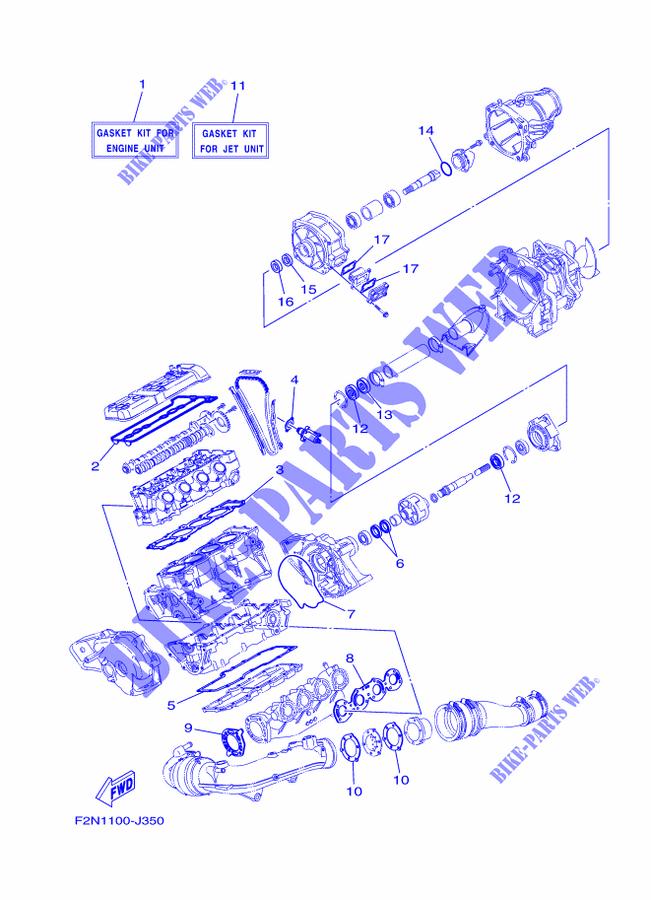 REPAIR KIT 1 for Yamaha VX1100-J 2010 # YAMAHA - Genuine