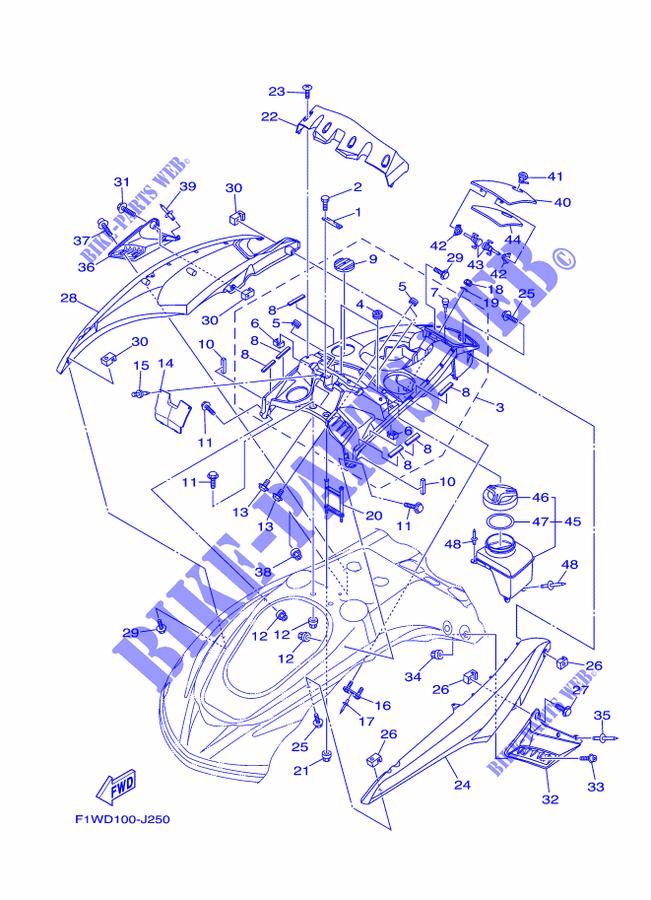 ENGINE HATCH 1 for Yamaha FX1800A-J 2010 # YAMAHA - Genuine