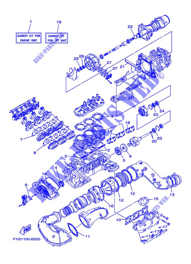REPAIR KIT 1 for Yamaha JET 1300 2004 # YAMAHA - Genuine Spare Parts