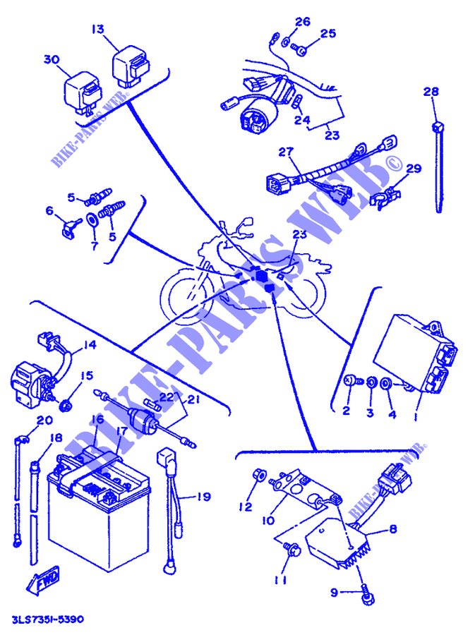 yamaha moto 250 1996 virago xv250 virago xv250 virago electrical 1