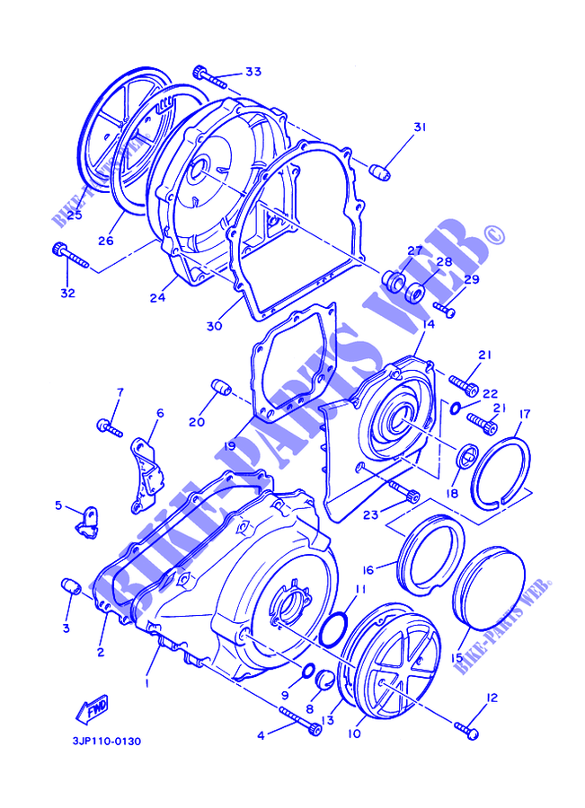 [TBQL_4184]  COVER ENGINE 1 for Yamaha VMX12 1994 # YAMAHA - Genuine Spare Parts  Catalogue | 94 Vmax 1200 Wiring Diagram |  | YAMAHA - Genuine Spare Parts Catalogue
