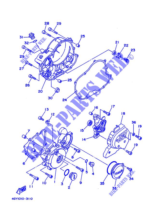 Yamaha 4GY-15451-00-00 GASKET  CRANKCASE