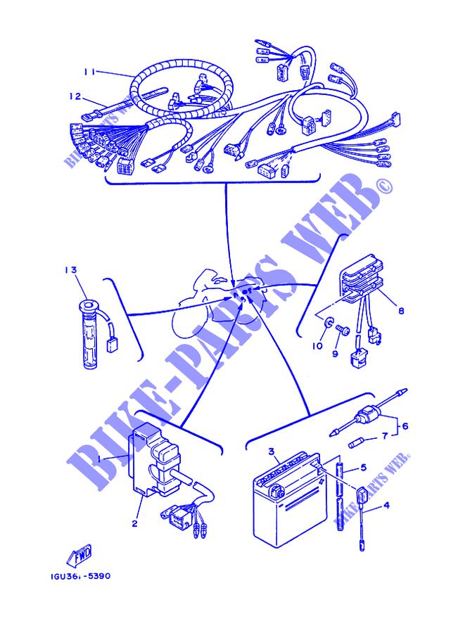 yamaha moto 125 1986 rdlc rd125lc rd125lc electrical 1