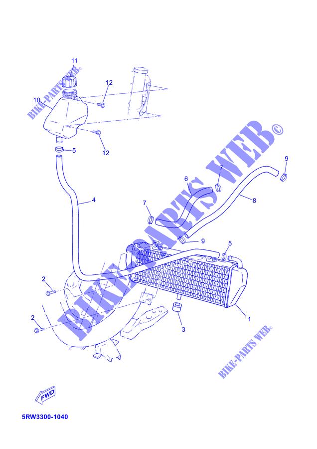 RADIATOR / HOSES for Yamaha JOG RR 2003 # YAMAHA - Genuine ... on