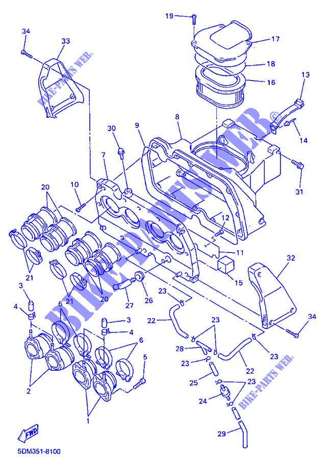 Fuel Filter Yamaha FZS 600 Fazer 5DM4 1999