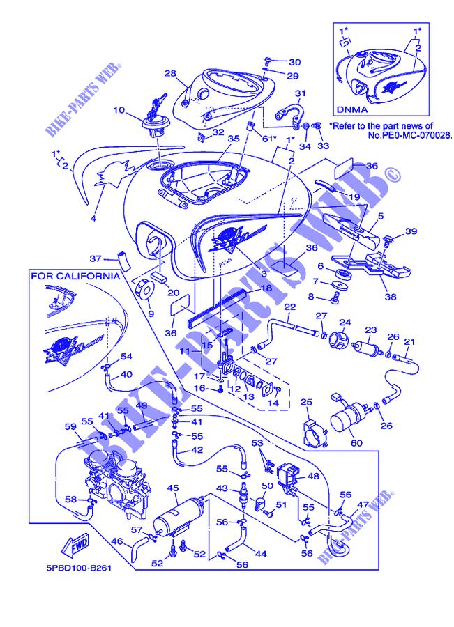 Yamaha V Star 1100 Parts Diagram