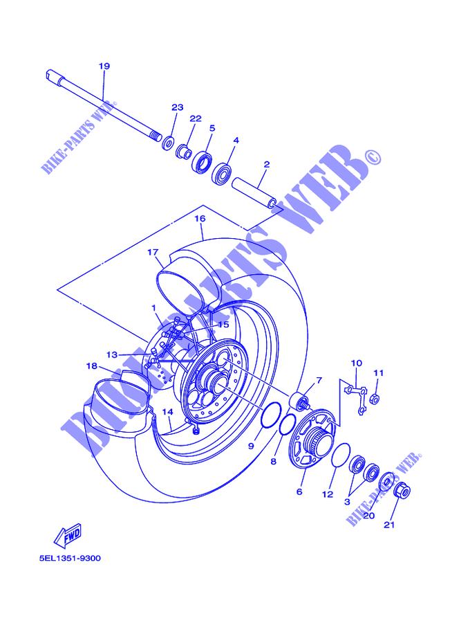 Rear Wheel Xvs1100 Xvs11rc V Star 1100 Dragstar 2003 1100 Moto