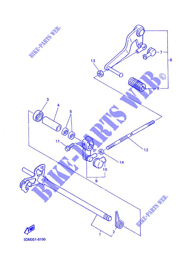 Gear Shift Shaft Lever Fzs600 Fazer Fazer 2002 600 Moto Yamaha