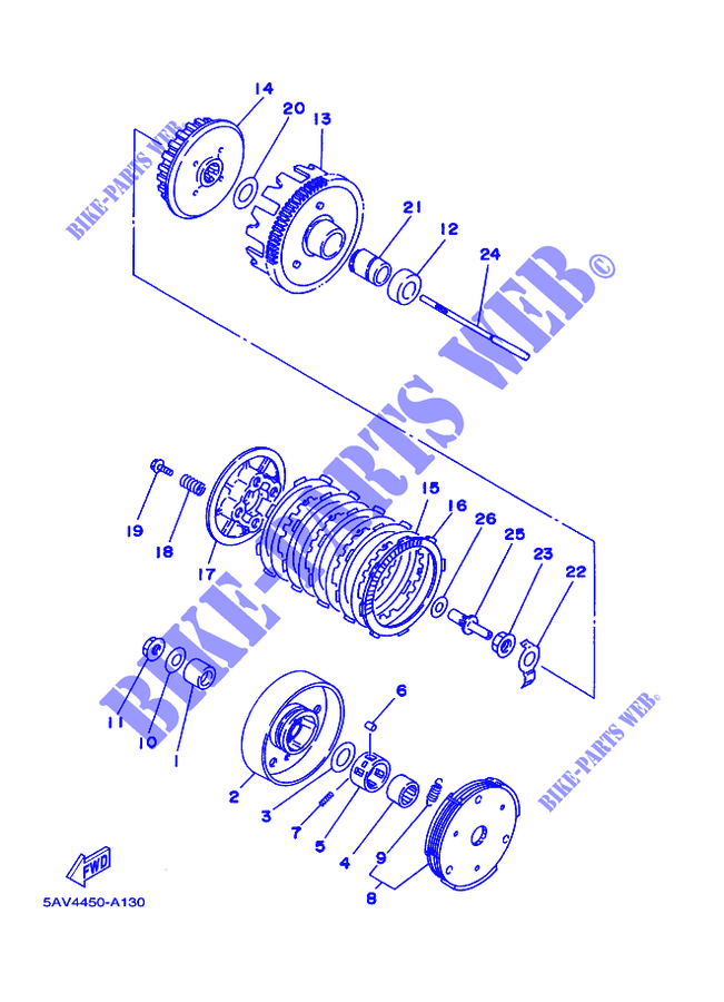 Scooter Clutch Diagram