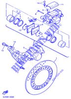 Yamaha YZF 600 R Thunder Cat 4TVB 2001 Rear Brake Pad Pin
