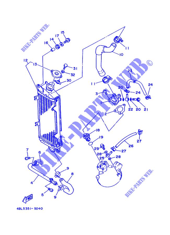 radiator hoses dt125r dtr 2000 125 moto yamaha motorcycle # yamaha on  yamaha ybr 125 wiring
