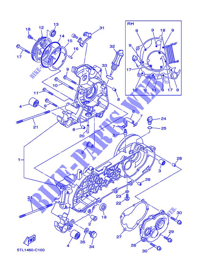 Crankcase For Yamaha Al115c Mio 2007   Yamaha