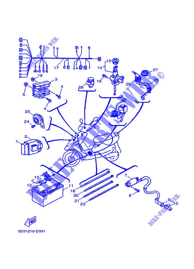 on yamaha jog electrical diagram