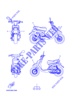 STICKER CW50 50 yamaha-motorcycle 2008 BOOSTER 5WWCM00-G360