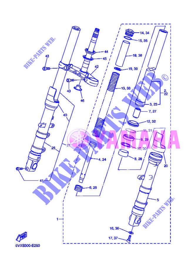 Schaltplan Yamaha Fazer 600