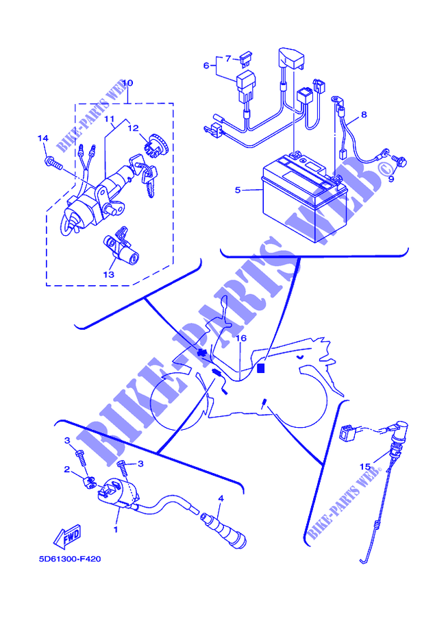 [DIAGRAM_5UK]  ELECTRICAL 1 for Yamaha CRYPTON 135 X 2009 # YAMAHA - Genuine Spare Parts  Catalogue | Wiring Diagram Of Yamaha Crypton |  | YAMAHA - Genuine Spare Parts Catalogue