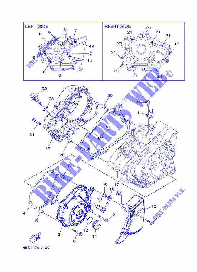 Cover Engine 1 For Yamaha Fz16 2010 Yamaha Genuine Spare Parts
