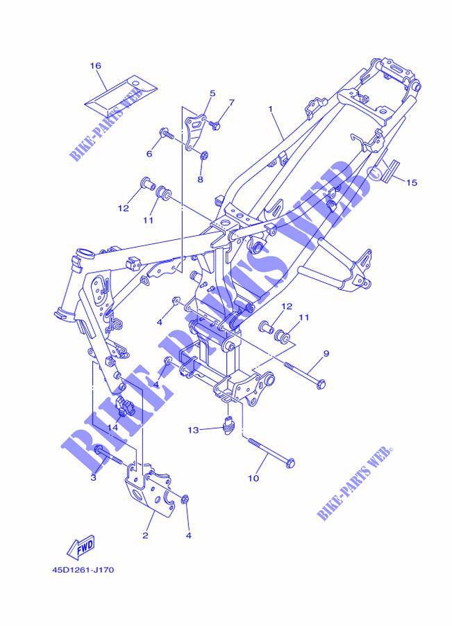 Frame For Yamaha Fz16 2010 Yamaha Genuine Spare Parts Catalogue