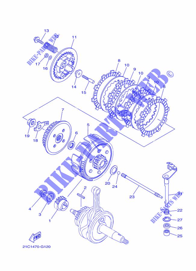 Starter Clutch For Yamaha Fz16 2010 Yamaha Genuine Spare Parts