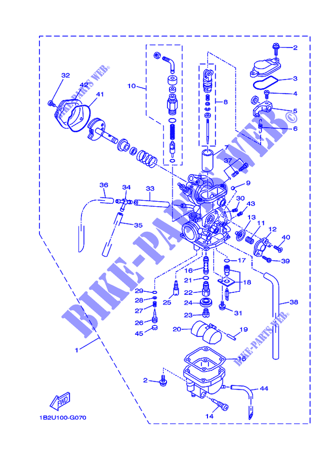 Yamaha Ttr 125 Carburetor Diagram