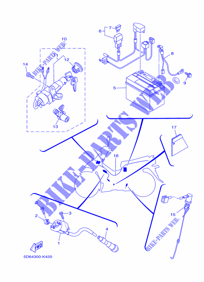 [SCHEMATICS_48YU]  ELECTRICAL 1 for Yamaha CRYPTON 135 X 2011 # YAMAHA - Genuine Spare Parts  Catalogue | Wiring Diagram Of Yamaha Crypton |  | YAMAHA - Genuine Spare Parts Catalogue